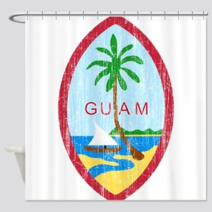 Guam Coat Of Arms Shower Curtain