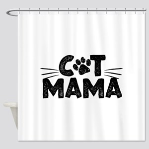 Cat Mama Shower Curtain