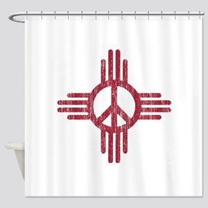 New Mexico Peace Sign Shower Curtain