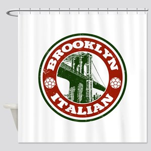 Brooklyn New York Italian Shower Curtain