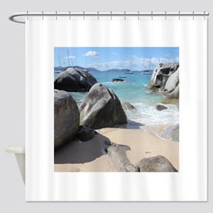 The Baths BVI Shower Curtain