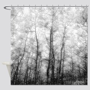Black And White Tree Shower Curtains