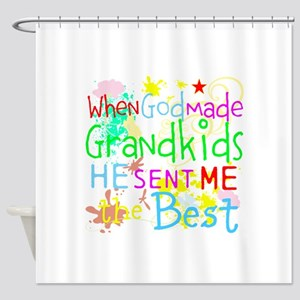 Best Grandkids Shower Curtain