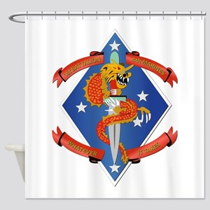 1st Bn - 4th Marines Shower Curtain