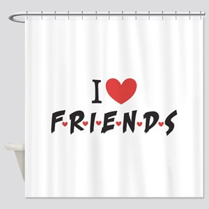 I heart Friends TV Show Shower Curtain