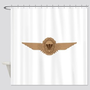 German Parachutist Shower Curtain