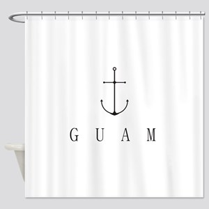 Guam Sailing Anchor Shower Curtain