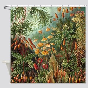 Vintage Plants Decorative Shower Curtain