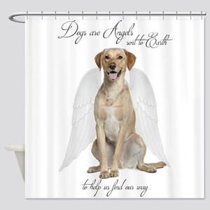 Yellow Lab Angel Shower Curtain