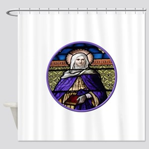 St. Anne Stained Glass Window Shower Curtain