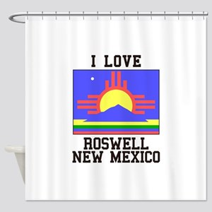I Love Roswell, New Mexico Shower Curtain