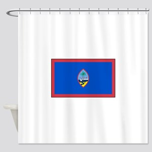 Guam Flag Shower Curtain