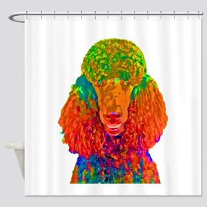 Psychadelic Poodle Shower Curtain