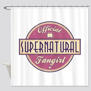 Official Supernatural Fangirl Shower Curtain