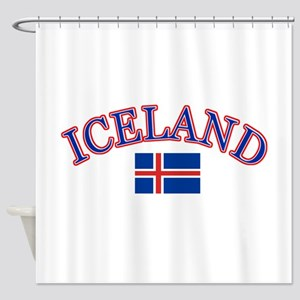 Iceland Soccer Designs Shower Curtain