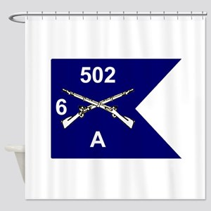 A/6/502 Guidon Shower Curtain