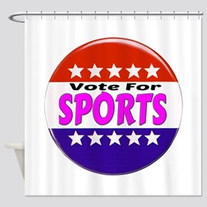 Vote For Sports Shower Curtain