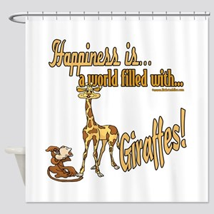 Happiness is a giraffe Shower Curtain