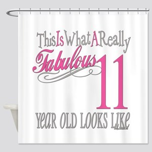 11th Birthday Gifts Shower Curtain