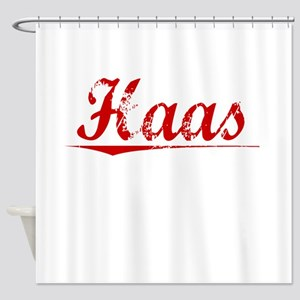 Haas, Vintage Red Shower Curtain