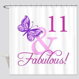 Fabulous 11th Birthday For Girls Shower Curtain