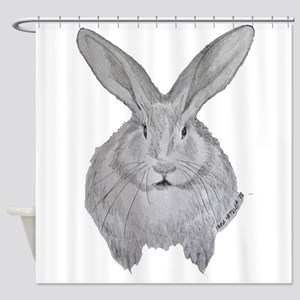 Flemish Giant by Karla Hetzler Shower Curtain