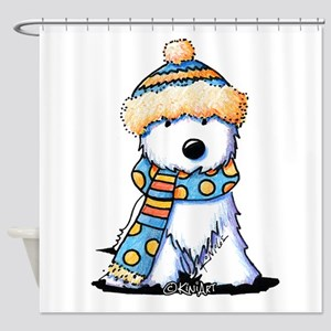 Winter Whimsy Westie Shower Curtain