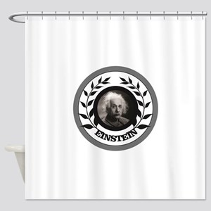 black ring branch ae Shower Curtain