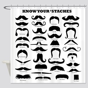 Know Your Staches Shower Curtain