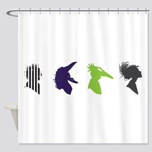 beetlejuice Silhouettes Shower Curtain