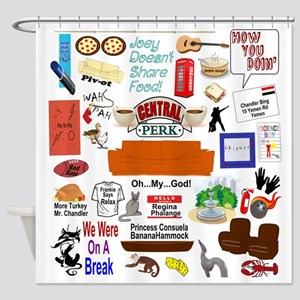 Friends TV Show Collage Shower Curtain