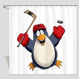 Funny Hockey Cartoons Shower Curtains Cafepress