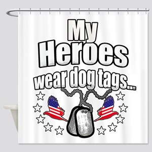 my heroes wear Shower Curtain