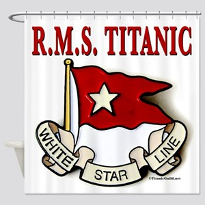 White Star Line RMS Titanic Shower Curtain