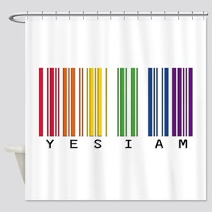 gay pride barcode Shower Curtain