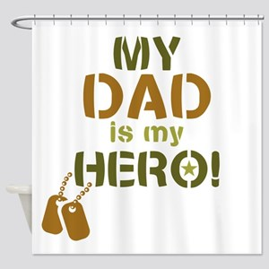 Dog Tag Hero Dad Shower Curtain