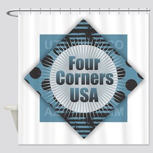 Four Corners USA Shower Curtain