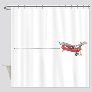 Tailwheels Signature Plane Shower Curtain