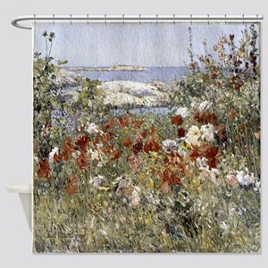 Wildflowers by the sea Shower Curtain