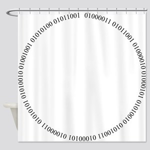 Cyber Security Ring Black Shower Curtain