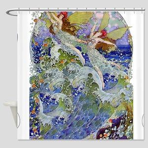 Sea Fairy Shower Curtains Cafepress