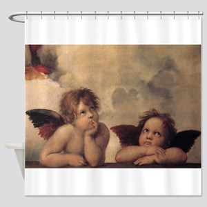 Raphael angels Shower Curtain