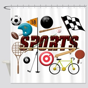 Sports Collage Shower Curtain