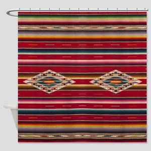 Southwest Red Serape Saltillo Shower Curtain