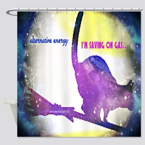 Alternative Energy Cat Shower Curtain