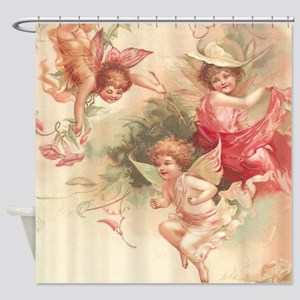 Cupid Angel 3 Shower Curtain