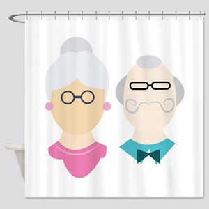 Grandparents Shower Curtain