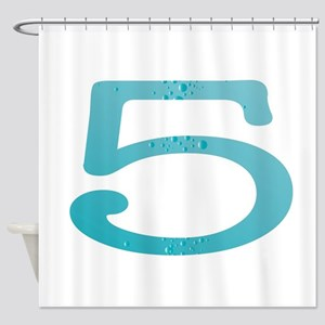 Water Numbers Shower Curtain