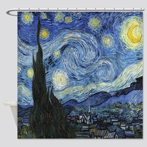 Starry Night By Van Gogh Shower Curtain