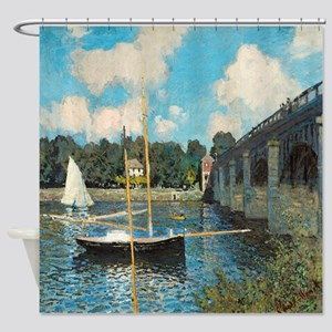 The Bridge At Argenteuil By Monet Shower Curtain